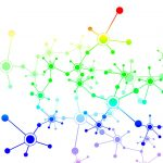 colored graphic of a network