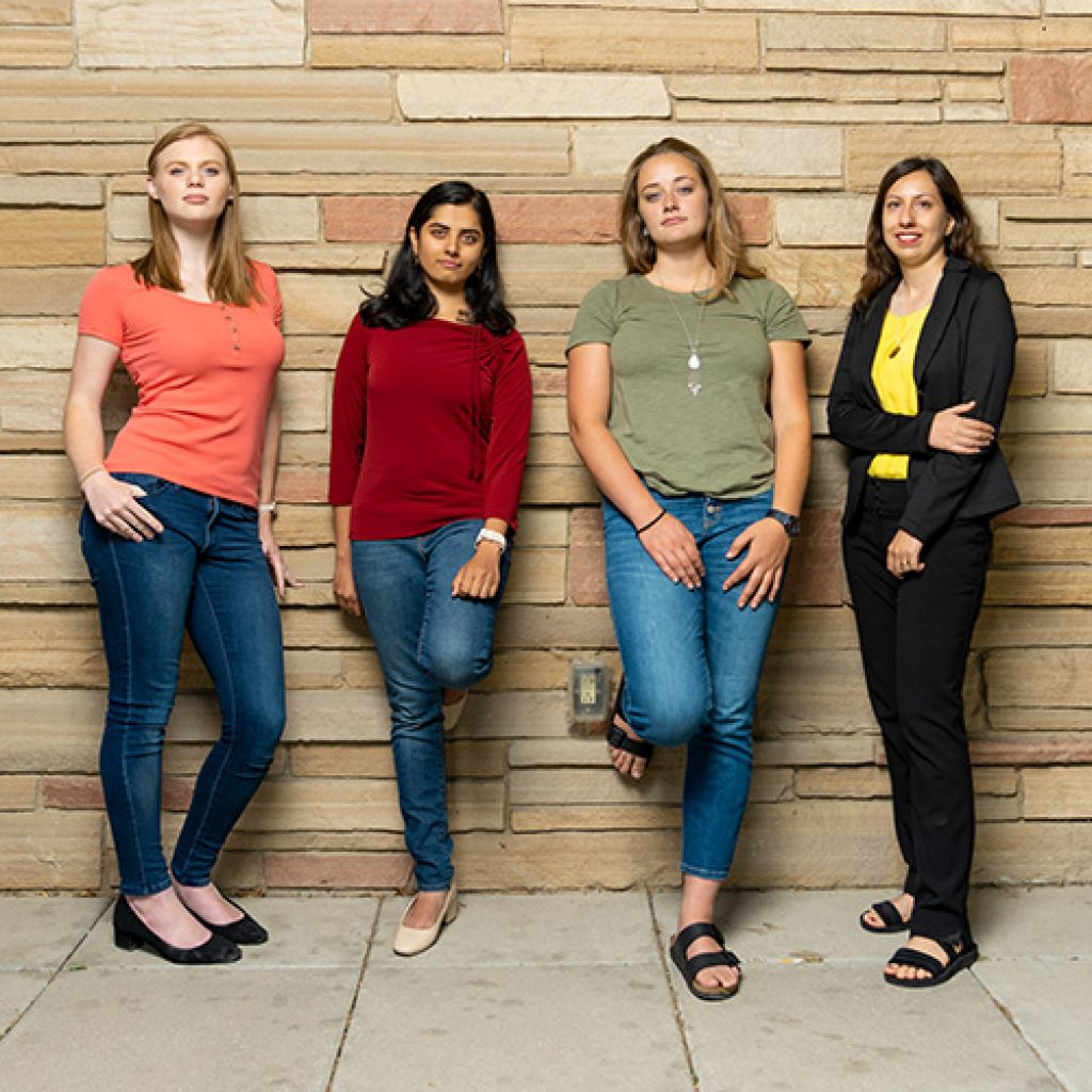 photo of four female computer science students