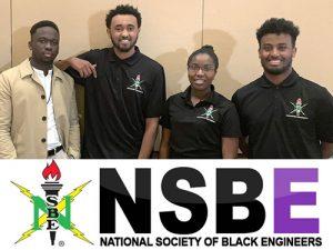 photo of winning student team at NSBE hackathon