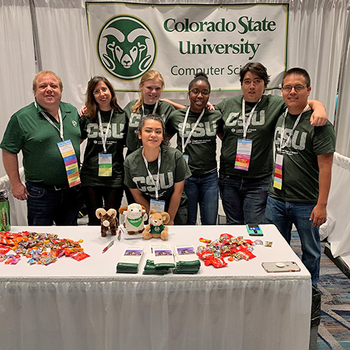 photo of 2019 computer science department Tapia conference attendees