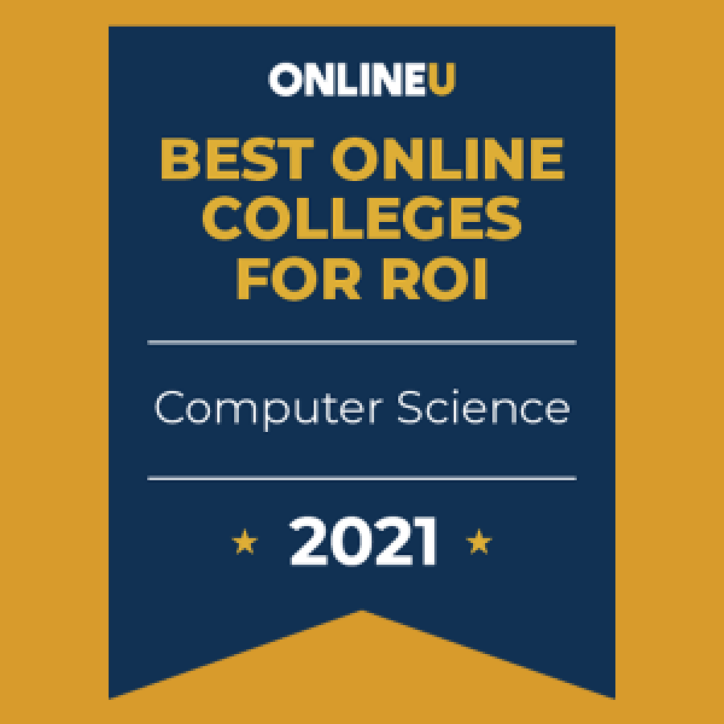 OnlineU best colleges for ROI badge